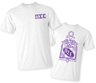 Pi Sigma Epsilon World Famous Crest - Shield Tee