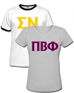 Printed Fraternity Greek T-Shirts