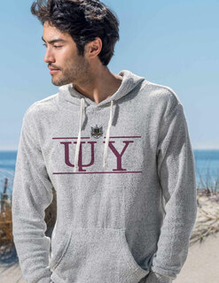Psi Upsilon Line Crest Lucas Loop Fleece Hood