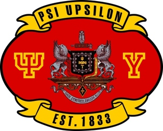 Psi Upsilon Banner Crest - Shield Decal