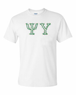 Psi Upsilon Christmas Lights Tee