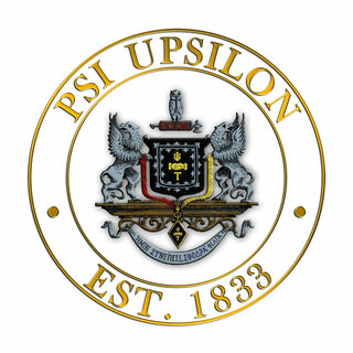 Psi Upsilon Circle Crest - Shield Decal