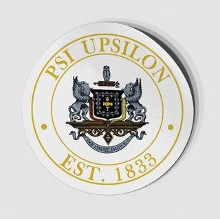 Psi Upsilon Circle Crest - Shield Decal