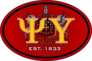 Psi Upsilon Color Oval Decal