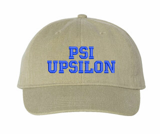 Psi Upsilon Comfort Colors Pigment Dyed Baseball Cap