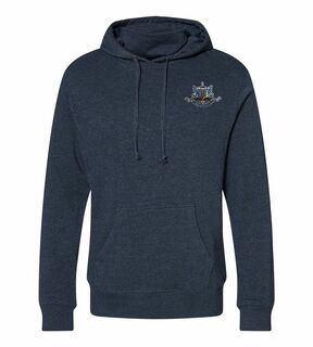 Psi Upsilon Crest Gaiter Fleece Hooded Sweatshirt