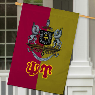 Psi Upsilon Crest House Flag