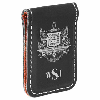 Psi Upsilon Crest Leatherette Money Clip