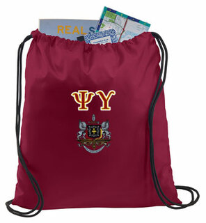 Psi Upsilon Crest - Shield Cinch Sack
