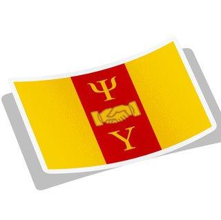 Psi Upsilon Flag Decal Sticker