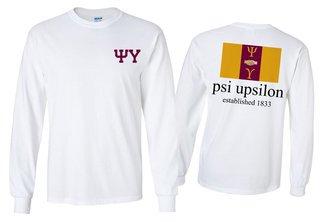 Psi Upsilon Flag Longsleeve T-Shirt