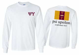 Psi Upsilon Flag Longsleeve T-Shirt