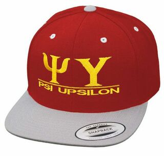 Psi Upsilon Flatbill Snapback Hats Original