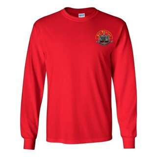 DISCOUNT-Psi Upsilon Fraternity Crest - Shield Longsleeve Tee