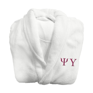 Psi Upsilon Lettered Bathrobe