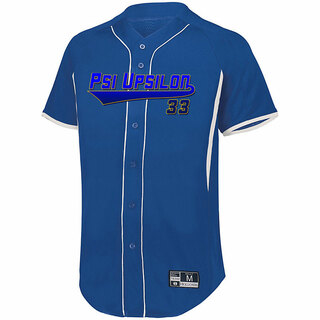 Psi Upsilon Game 7 Full-Button Baseball Jersey