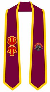 Psi Upsilon Greek 2 Tone Lettered Graduation Sash Stole