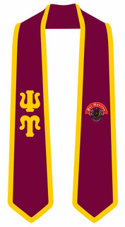 DISCOUNT-Psi Upsilon Greek 2 Tone Lettered Graduation Sash Stole