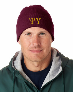 Psi Upsilon Greek Letter Knit Cap
