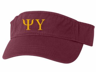 Psi Upsilon Greek Letter Visor
