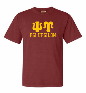 Psi Upsilon Greek Custom Comfort Colors Heavyweight T-Shirt