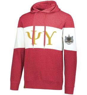 Psi Upsilon Ivy League Hoodie W Crest On Left Sleeve