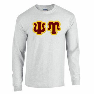 Psi Upsilon Lettered Long Sleeve Shirt