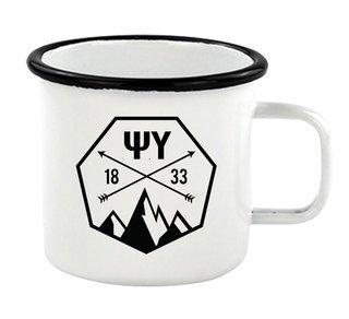 Psi Upsilon Metal Camping Mug