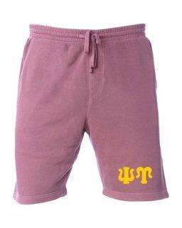 Psi Upsilon Pigment-Dyed Fleece Shorts