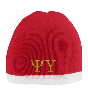 Psi Upsilon Two Tone Knit Beanie