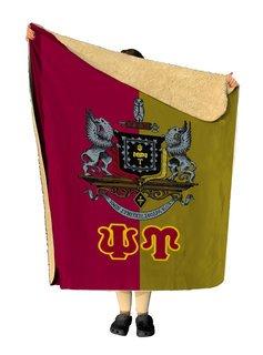 Psi Upsilon Two Tone Two Tone Sherpa Lap Blanket