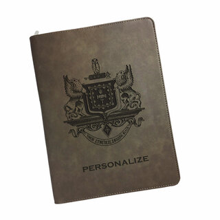 Psi Upsilon Zipper Leatherette Portfolio with Notepad