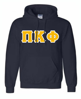 Sewn Lettered Applique Twill Sweatshirts