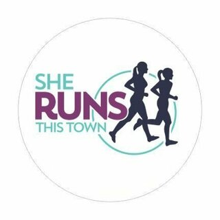 """She Runs This Town Large Color Decal - 3"""" Tall"""