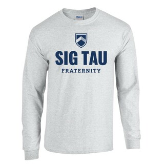 Sig Tau Fraternity Long Sleeve Tee