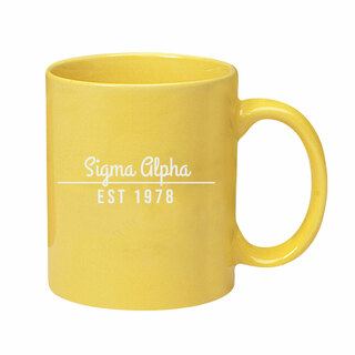 Sigma Alpha 11 oz. Colored Stoneware Mug