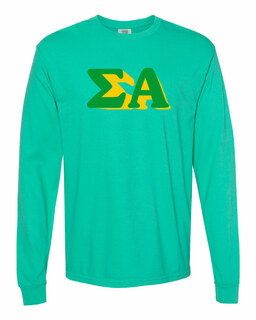Sigma Alpha 3 D Greek Long Sleeve T-Shirt - Comfort Colors