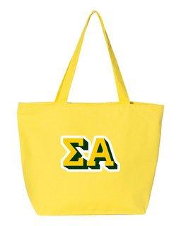 Sigma Alpha 3D Letter Tote Bag