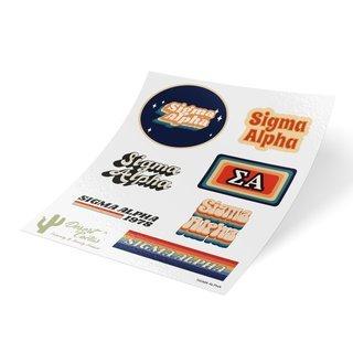 Sigma Alpha 70's Sticker Sheet