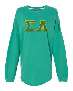 DISCOUNT-Sigma Alpha Athena French Terry Dolman Sleeve Sweatshirt