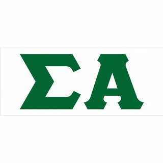 Sigma Alpha Big Greek Letter Window Sticker Decal
