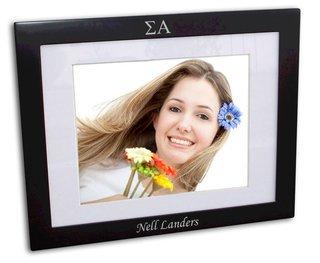 Sigma Alpha Black Wood Picture Frame