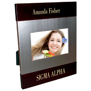 Sigma Alpha Brush Silver Frame