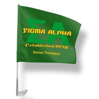 Sigma Alpha Car Flag