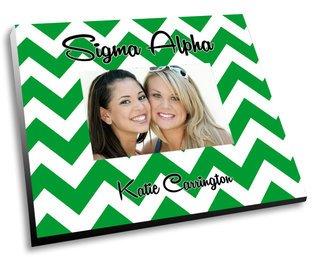 Sigma Alpha Chevron Picture Frame