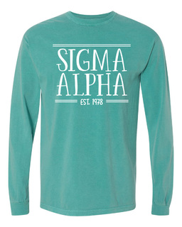 Sigma Alpha Comfort Colors Custom Long Sleeve T-Shirt