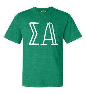 Sigma Alpha Comfort Colors Heavyweight Design T-Shirt