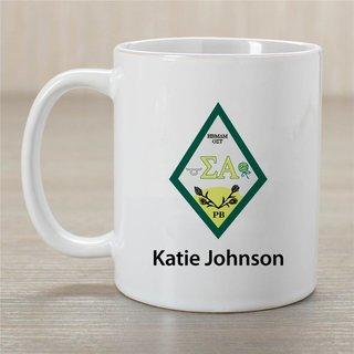 Sigma Alpha Crest Coffee Mug - Personalized!