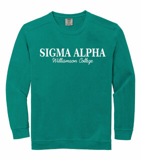 Sigma Alpha Custom Comfort Colors Greek Crewneck Sweatshirt
