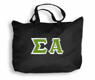 Sigma Alpha Custom Satin Stitch Tote Bag
